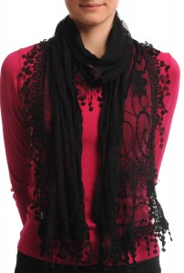 Black Lace Scarf