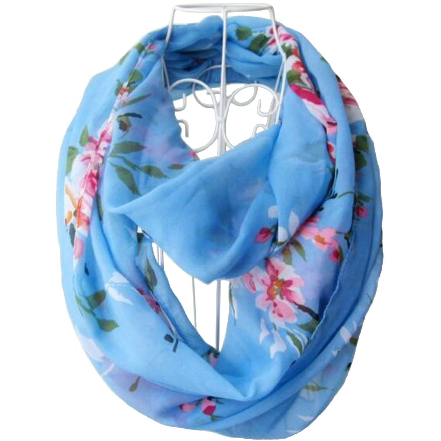 Floral Scarf - Floral Infinity Scarf