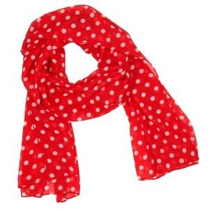 Red Polka Dot Scarf