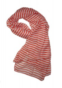 Red Striped Scarf