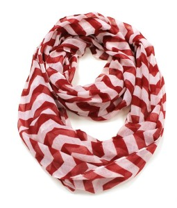 Red White Striped Scarf