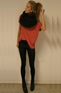 Black Infinity Scarf Outfits