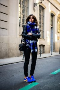 Blue Plaid Scarf Outfit