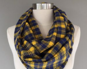 Blue and Yellow Plaid Scarf