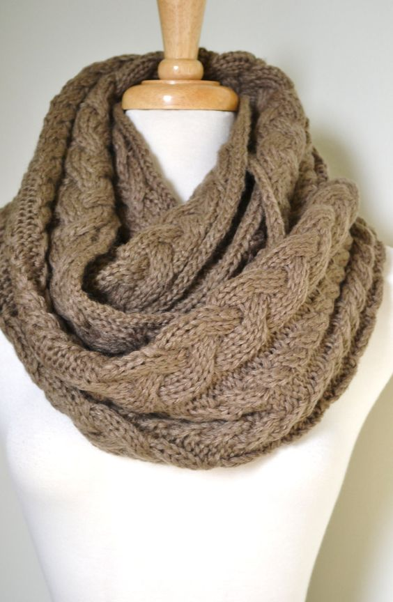 Love infinity scarves but not crazy about knitting or the knit look? You might prefer this cute and easy infinity scarf by Jamielyn. You can make one of these scarves in just .