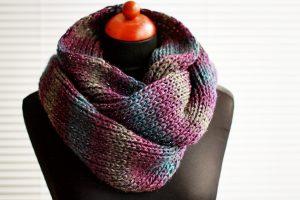 DIY Knit Infinity Scarf