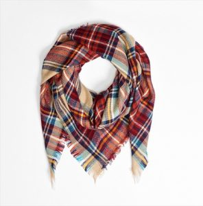 Images of Plaid Blanket Scarf