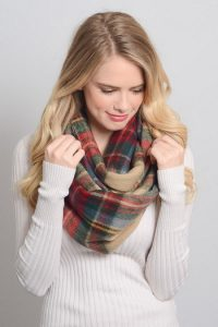 Images of Plaid Infinity Scarf
