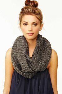 Knitting Infinity Scarf