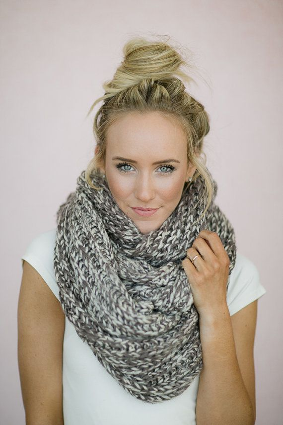 Infinity scarves are simply scarves knitted in the round (or back and forth and then seamed), so that they have no beginning or ending. They can be worn long and loose or wrapped around the neck to form a cowl, which is why many knit infinity scarf patterns have the word cowl in their name.