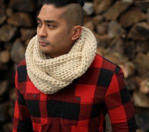 Mens Crochet Infinity Scarf