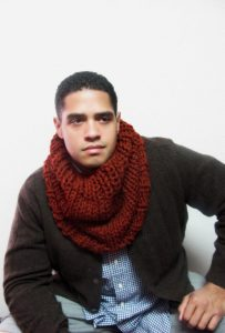 Mens Knit Infinity Scarf