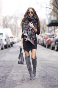 Oversized Plaid Scarf Pictures