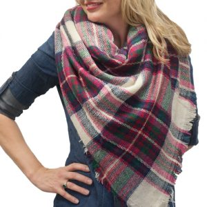 Pictures of Plaid Blanket Scarf