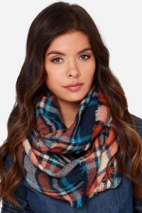 Pictures of Plaid Infinity Scarf