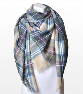 Plaid Blanket Scarf Pictures