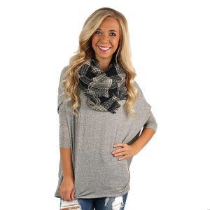 Plaid Infinity Scarf Outfit