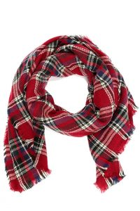 Plaid Red Scarf