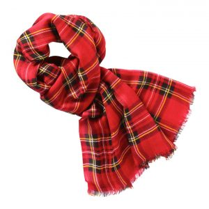 Plaid Scarf Red