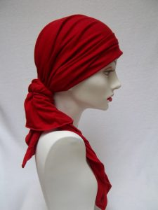 Red Head Scarf