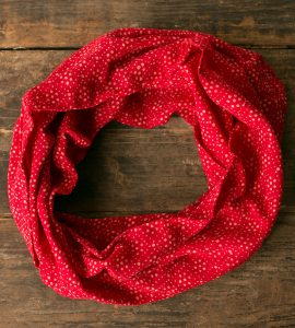 Red Print Infinity Scarf