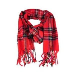 Red Tartan Plaid Scarf
