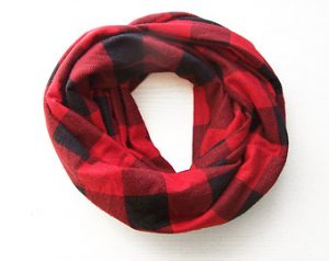 Red and Black Infinity Scarf