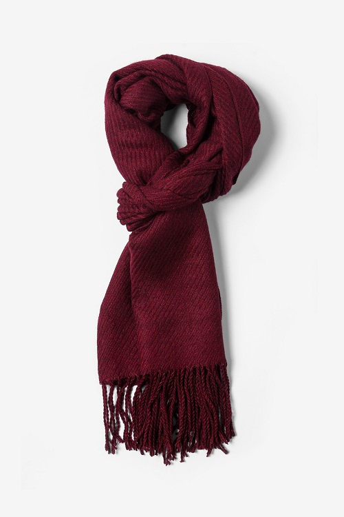 Burgundy Scarf Designs And Patterns World Scarf