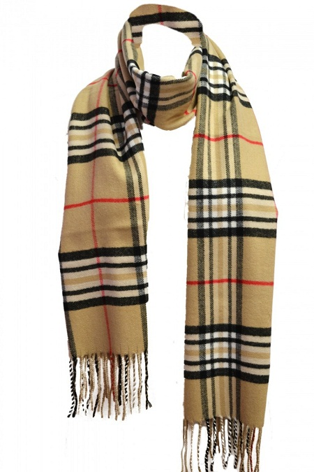 Tan Plaid Scarf Designs and Patterns | World Scarf