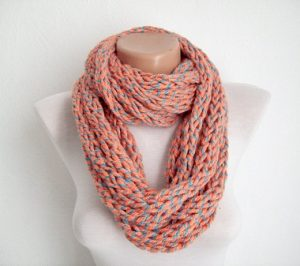 Thick Finger Knit Scarf