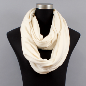 White Infinity Scarf Images