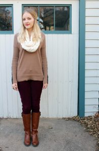 White Infinity Scarf Outfit