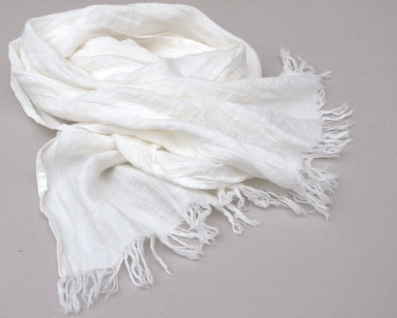 White Scarf Designs And Patterns World Scarf