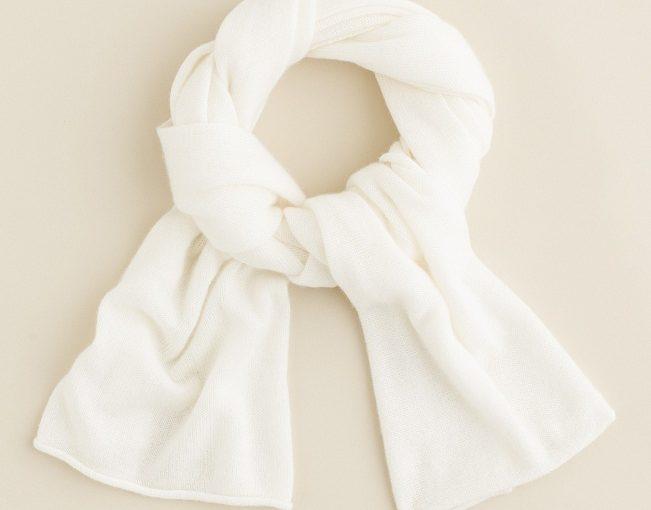 White Cashmere Scarf