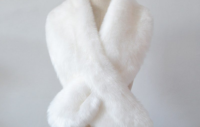 White Fur Scarf